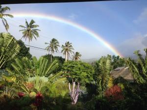 Maui ではよく虹を見ることができる。